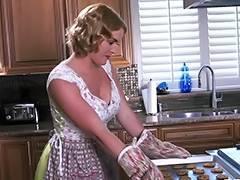 Wife, Black, Blonde, Bra, Fucking, Kitchen