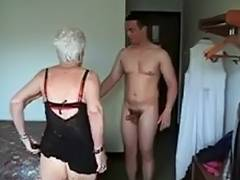 Granny, Drilled, Facial, Fucking, Granny, Mature