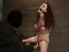 Iona Grace Gets Tied with Ropes for Tit Torture and Pussy Toying