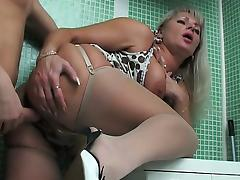 Russian Mature and much younger boy