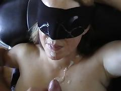 Wife, Amateur, Blindfolded, Facial, Wife
