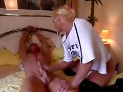 Bed, BDSM, Bed, Bound, Femdom, Handjob