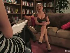 Femdom and Bondage Vid with Dia Zerva Has Black Guy Face Sit