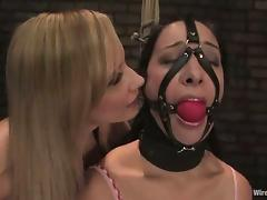 January Seraph gets multiple orgasms while being tortured in a cellar