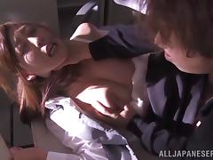Tied up Japanese office girls get fucked by invaders