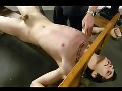 BDSM bondage gay boy is tickled and tortured
