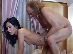 All, Blowjob, Brunette, Couple, Grandpa, Old Man