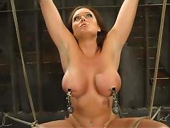 Gorgeous babe with big tits gets tortured hard