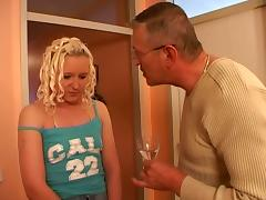 Hot blonde fucked by her stepfather