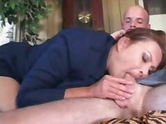 Chubby Mature Hoe With Huge Melons Rides That Bald Dudes Cock