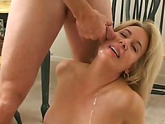 Gorgeous milf gets fucked and cummed on her face