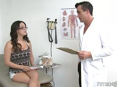 Doctor, Blowjob, Brunette, Close Up, Couple, Cowgirl