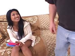 Nice Lyla Lei gets her hairy Asian pussy fucked deep