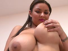 Bra, Bedroom, Big Tits, Bra, Latina, Pornstar