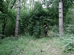 crossdresser in the wood