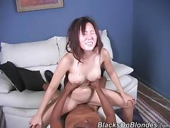 Mouthwatering Leili Yang Has Interracial Sex With A Big Black Cock