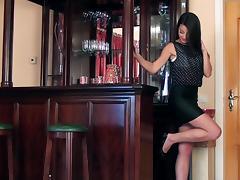 Bar, Bar, Bra, Fingering, Masturbation, Pussy