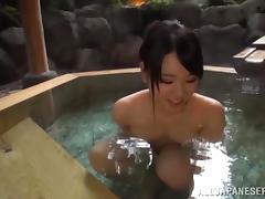 Pretty Riko Komori Goes Hardcore In A Hot Jacuzzi Outdoors