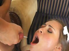 All, Blowjob, Brunette, Couple, Cum in Mouth, Riding