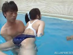 Hot Asian Chick Gets Toyed In The Swimming Pool And Fucked Hard