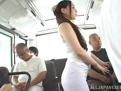 Obese, Asian, BBW, Blowjob, Bus, Chubby