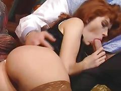 Redhead, Anal, Assfucking, Blowjob, Brunette, Cum