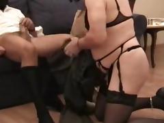 Femdom SM Black Mistress - Humiliated Cuckold Sissy Husband