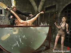 slave is dunked in the cold water