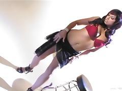 Strip, Allure, Big Tits, Bra, Close Up, Masturbation