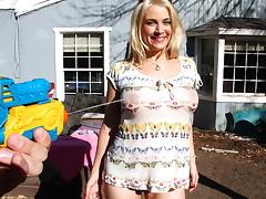 Busting a huge creampie inside big tit...