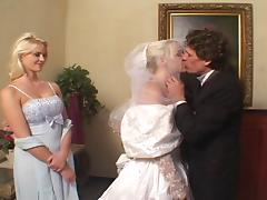 3some, Anal, Blowjob, Bride, Close Up, Cum in Mouth