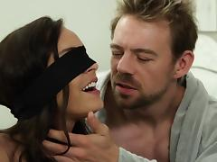 Brunette, Blindfolded, Brunette, Couple, Glamour, Kinky