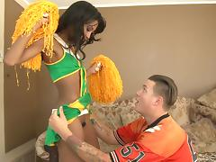 Cheerleader, Babe, Cheerleader, Ebony, Interracial, Chocolate